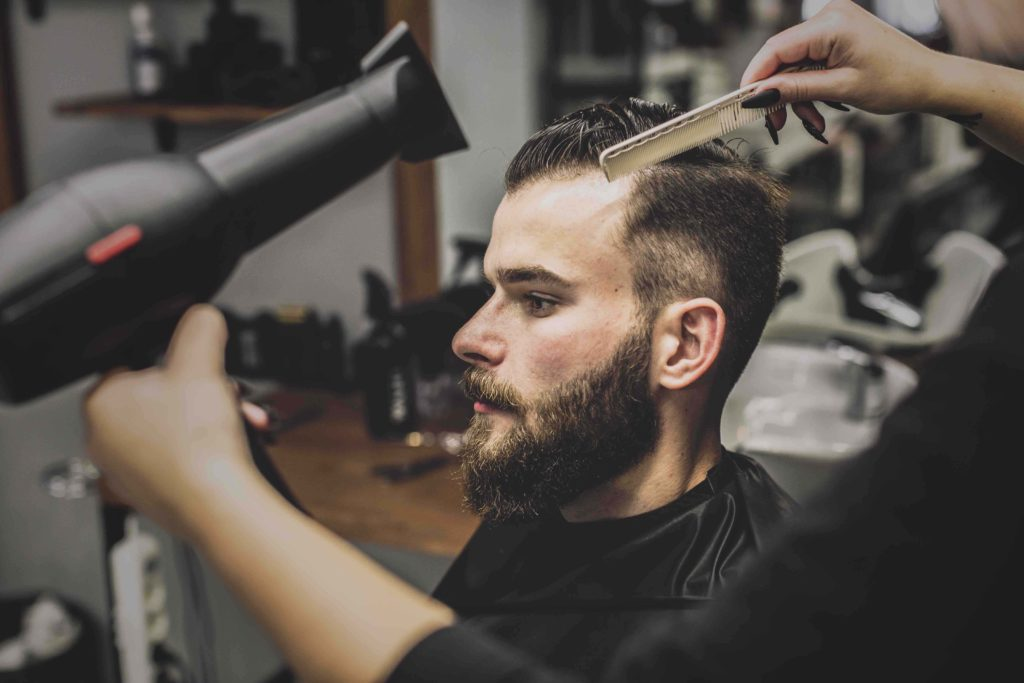 Волосы фен барбершоп